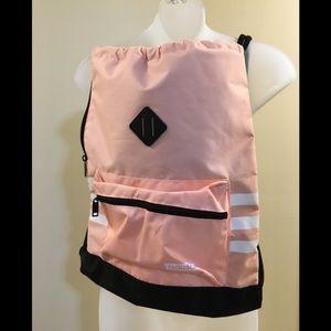 NWOT Adidas Peach/ White Sport Drawstring Backpack